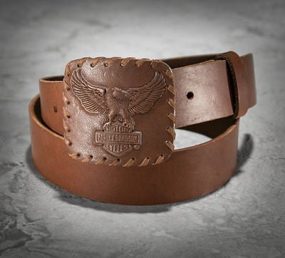 97669-16VM H-D Vintage Distressed Leather Belt