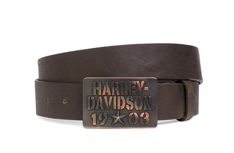 97670-16VM H-D 1903 Distressed Leather Belt