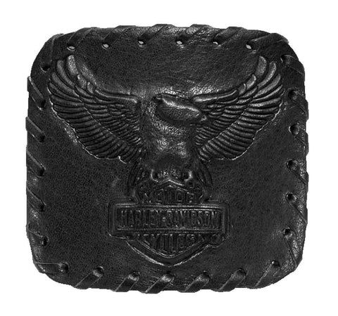 97849-17VM H-D® Mens Embossed Eagle with B&S Whipstitched Matte Black Leather Buckle