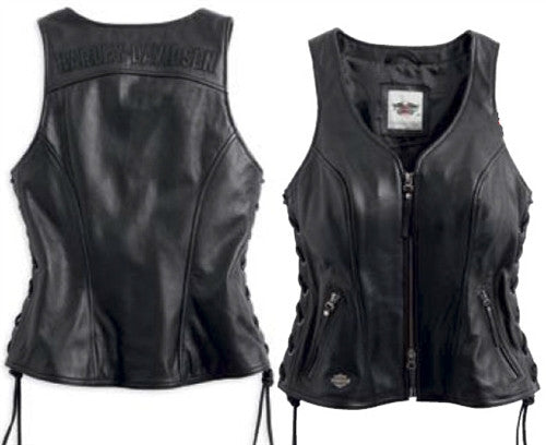 98071-14VW H-D® Women`s Avenue Leather Vest