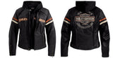 98142-09VW Harley-Davidson® Womens Miss Enthusiast 3 In 1 Black Leather Jacket