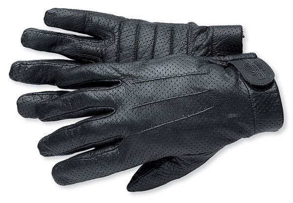 98164-98VM Harley-Davidson® Mens Perforated Full Finger Leather Gloves