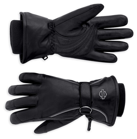 98318-11VW Harley-Davdison Windshielder Leather Gauntlet Gloves