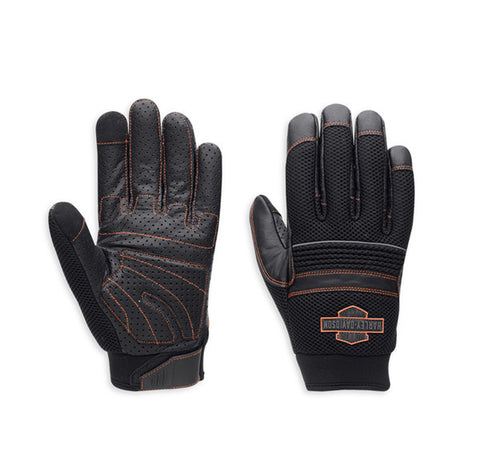 98364-15VM H-D Glove F/F Saddle Mesh Leather
