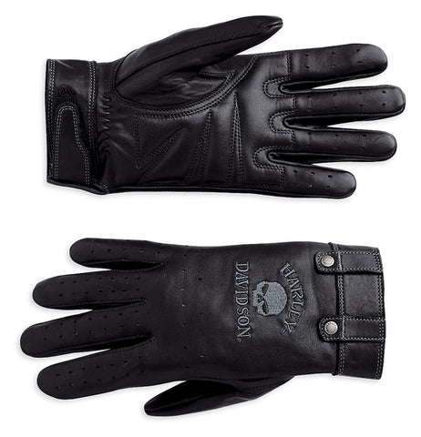 98381-10VW Harley-Davidson Skull Full-Finger Leather Gloves