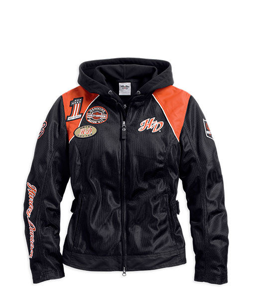 98557-14VW H-D® Womens Cora 3-In-1 Mesh Black Casual Jacket