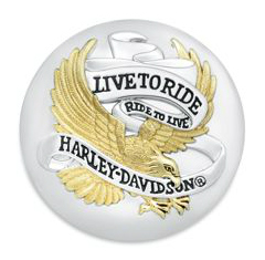 99020-90T Live To Ride Fuel Cap Medallion