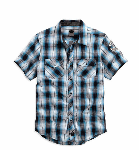 99024-16VM H-D Snap Front Plaid Shirt