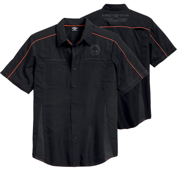 99034-15VM Harley-Davidson® Men's Black Vented Performance Shirt