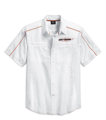 99035-15VM HD Shirt S/S Triple Vent White