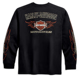 99042-09VM-Harley-Davidson® Men's Long Sleeve Tee with Flame Graphics.