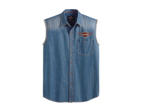 99078-13VM  H-D Blowout-Flame,Denim,Blu