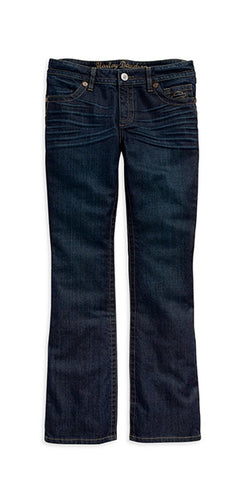 99118-15VW - HD Womens Boot Cut Contour Mid-Rise Dark Blue Jeans