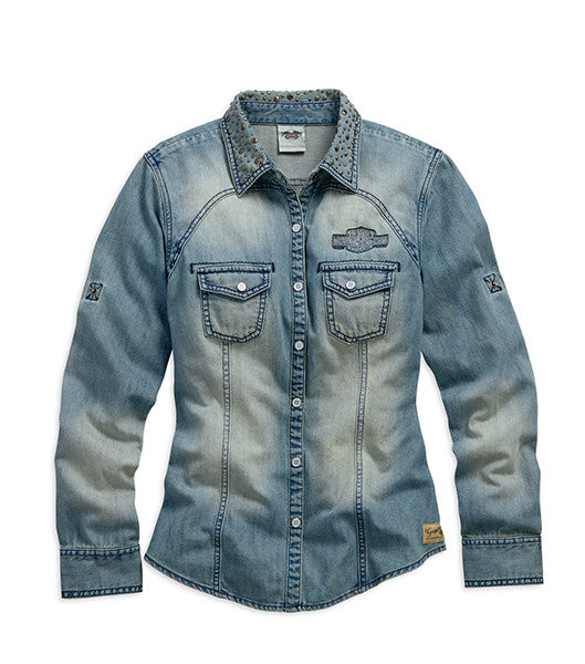 99137-15VW Genuine Long Sleeve Denim Shirt