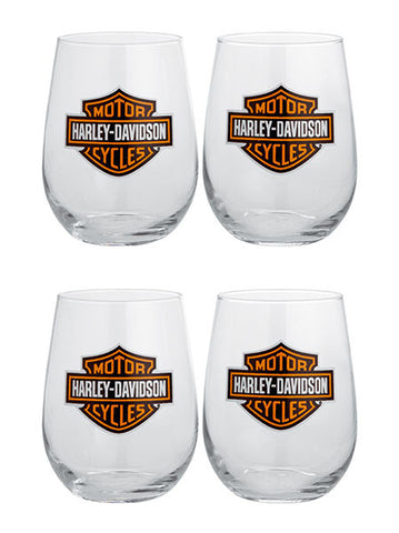 99205-14V H-D Set of Four Stemless Wine Glasses