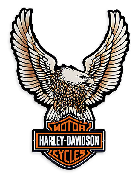 99349-09V Harley-Davidson Tin Sign-Upright Eagle