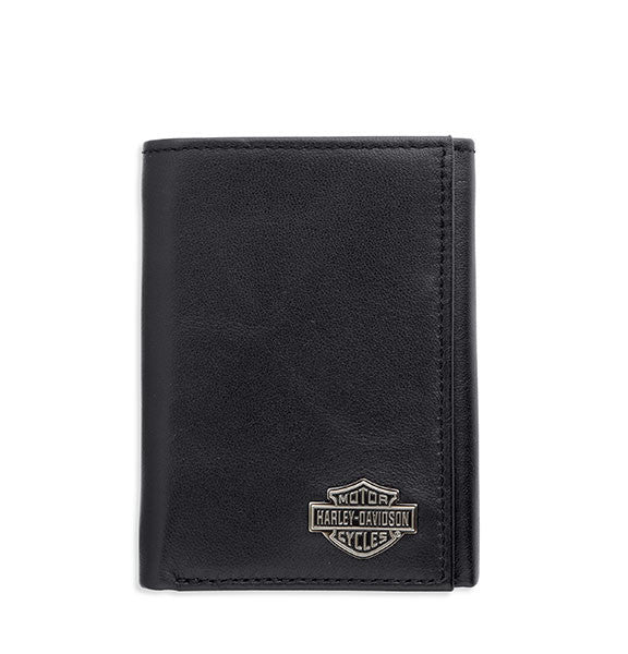 99403-14VM H-D® Tri-Fold Bar & Shield Logo Emblem Wallet