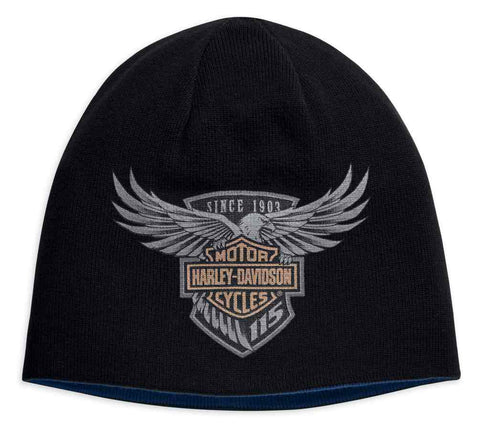 99416-18VM H-D Men's 115th Anniversary Reversible Knit Hat