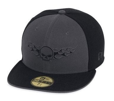 99437-13VM H-D® Mens Skull with Flames Colorblocked 59FIFTY Cap