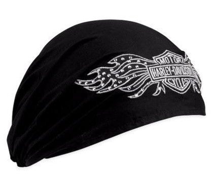 99449-10VW H-D® Women's Studded Winged B&S Headwrap
