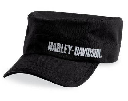 99461-10VM H-D® Embroidered Font Black Flat Top Cap