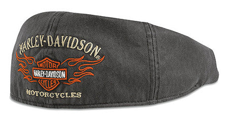 99537-11VM H-D® Mens Flame Graphic Grey Ivy Cap