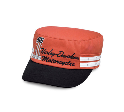 99566-17VW H-D Women's #1 Colorblocked Flat Top Cap