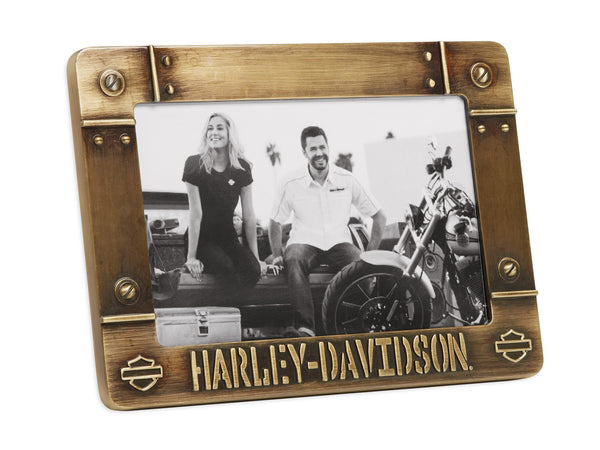 96821-17V H-D Bolted Metal with B&S Brass Photo Frame