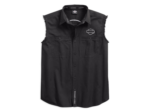 96603-17VM H-D Men's Circle Eagle Sleeveless Blowout Shirt