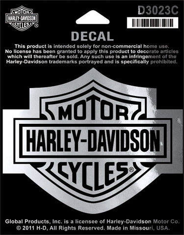 D3023C Harley-Davidson® Classic Bar and Shield Chrome Decal