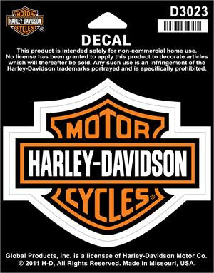 D3023 Harley-Davidson® Classic Logo Decal Bar & Sheild Medium Size