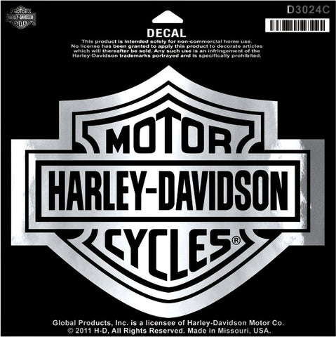 D3024C Harley-Davidson® Classic Logo Decal Bar & Sheild Medium Size