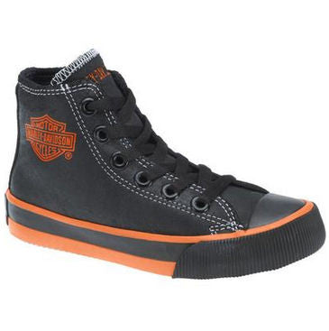 D61004 H-D Kids Patch Black Hi-Top Black Athletic Sneakers