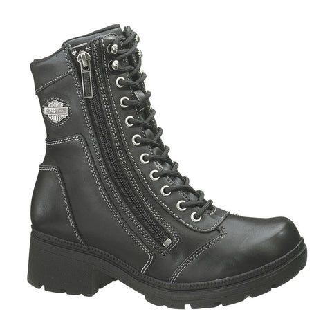 "D85262 H-D® Women's 6"" Tessa Leather Combat Lifestyle Boots"