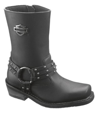 D87019 H-D® Women's Rosa Inside Zipper Black Boots