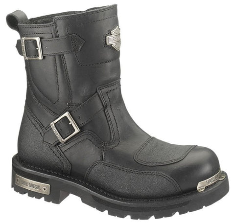 D91692 H-D® Men's Manifold Black Leather Boots with Tech-Tuff® Overlays