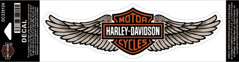 DC339124 Harley-Davidson® Straight Wing Tan Large Decal