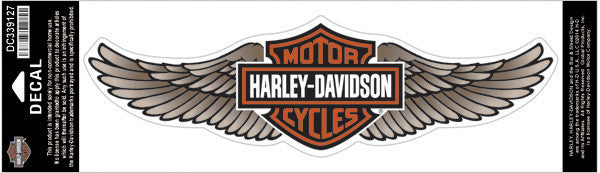 DC339127 - Harley-Davidson® Straight Wing Tan 3X Decal