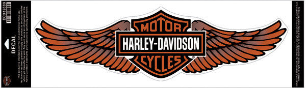 DC339389 - Harley-Davidson® Straight Wing Orange 5X Decal