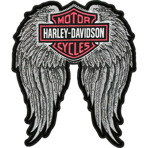 EM072063 Harley-Davidson® Studded Winged B&S Medium Patch