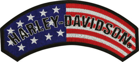 EM080842 Harley-Davidson® RWB Flag Rocker Medium Patch
