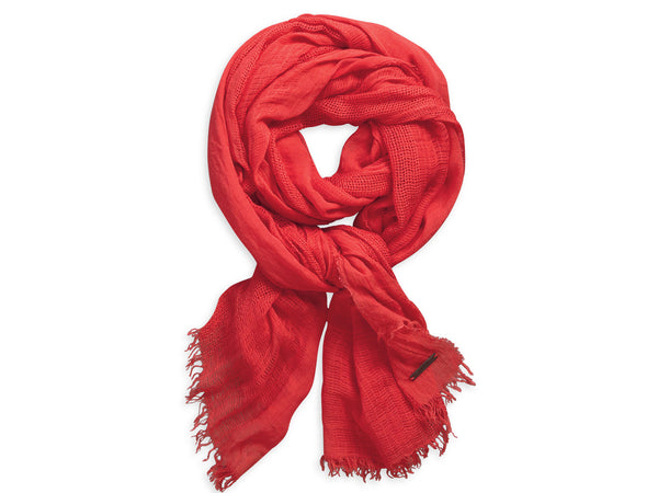 97673-15VW H-D Women's Gauze Fashion Scarf, Cayenne Pink