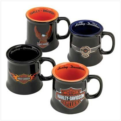 HD-HD-657000 The Memory Company Harley Davidson Ceramic Mug Shot Set