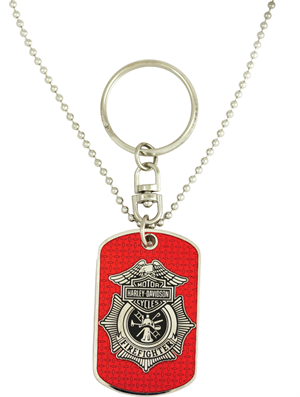 8002824 H-D Fire Trans Dog Tag