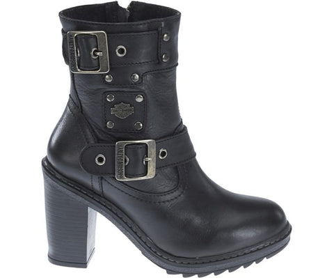 D83831  H-D® Women's Ludwell 5.5-In Black Fashion Boots. 4-In Heels (40% off)