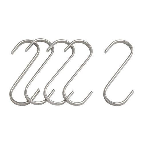 GRUNDTAL S-hook, stainless steel, 11 cm 5 pieces. 70176388