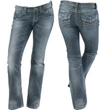 99181-12VW H-D Low-Rise Stretch Boot Cut Jeans