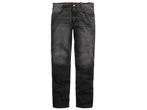 99029-16VM H-D Mens Straight Leg Modern Distressed Look Black Jeans