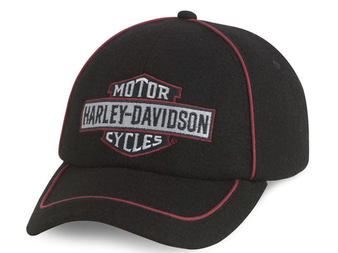 97633-14VM H-D® Wool Bar & Shield Logo Adjustable Baseball Cap