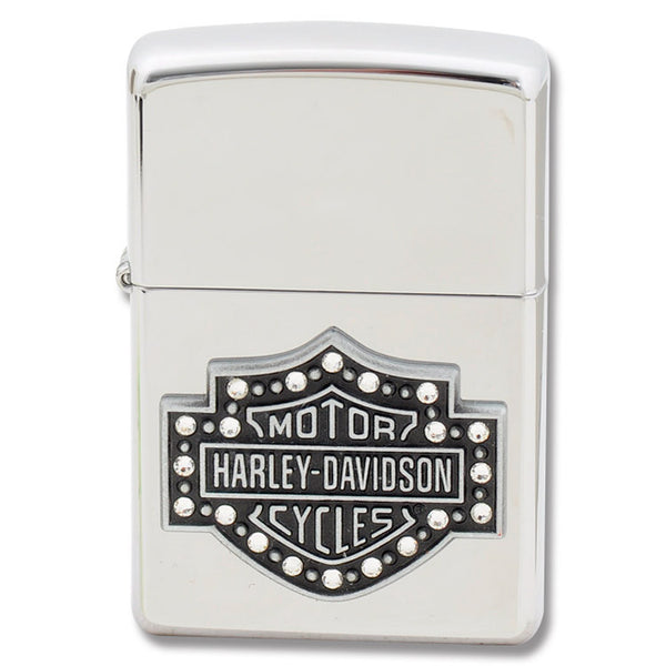 "28349 -  H-D® ""Crystal Shield"" High Polish Chrome Zippo® Lightrer"